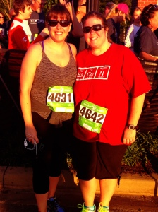 5k Swamp Rabbit Race with my sister, triathlon-partner-in-crime